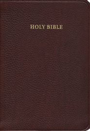 KJV Cameo Reference Bible, Calfskin, Brown  -