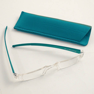 Reading Glasses, Teal Bows, 1.00 Strength  -