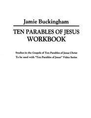 Ten Parables of Jesus Workbook - Slightly Imperfect  -