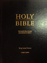 KJV Thompson Chain-Reference Bible, Large Print, Hardcover   -              By: Bible