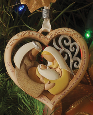 Holy Family Heart Ornament, Legacy of Love   -              By: Kim Lawrence