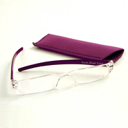 Reading Glasses, Purple Bows, 2.50 Strength  -