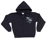 Heir of Salvation Zippered Hoodie, Navy, Small   -