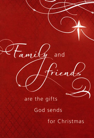 Family & Friends Christmas Card, Pack of 20   -