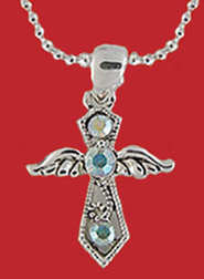 Winged Cross Necklace  -
