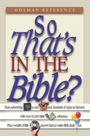So That's in the Bible? - eBook  -