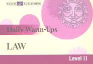 Daily Warm Ups Law, Level 2   -