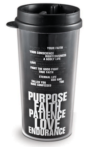 Purpose, Faith, Patience, Love, Endurance Tumbler  -