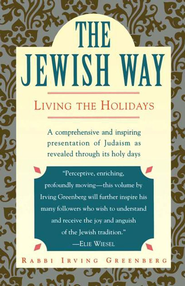 The Jewish Way: Living the Holidays - eBook  -     By: Irving Greenberg