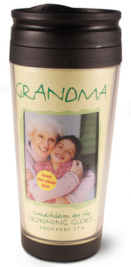 Grandma Photo Mug Travel Tumbler  -