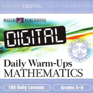 Digital Daily Warm-Ups Math Grades 5-8   -