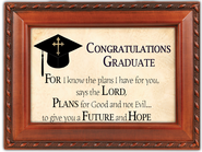 For I Know the Plans Graduate Framed Plaque  -