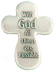 With God All Things Are Possible Pocket Token  -
