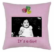 It's a Girl Photo Pillow  -