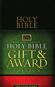 KJV Gift & Award Bible, Imitation leather, Black   -     By: Bible