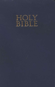 KJV Gift & Award Bible, Imitation leather, Navy blue   -     By: Bible