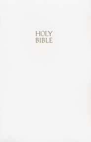 KJV Gift & Award Bible, Imitation leather, White   -     By: Bible
