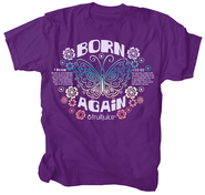 Born Again Shirt, Purple, Large  -