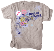 Praise Bird Shirt, Gray, Medium  -