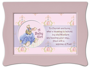 To Cherish and Love Framed Plaque, Pink  -