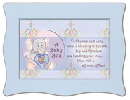 To Cherish and Love Framed Plaque, Blue  -