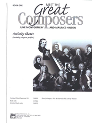 Meet the Great Composers, Book 1 Activity Sheets   -     By: Maurice Hinson, June Montgomery