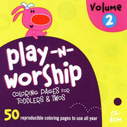 Play-n-Worship for Toddlers and Twos Coloring Pages, Volume 2, CDROM  -