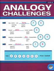 Analogy Challenges, Level B--Grades 6 to 8   -