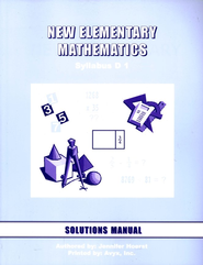Singapore Math: New Elementary Math Solution Manual Grade 7   -