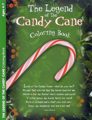 The Legend of the Candy Cane Coloring Book--Ages 4 to 7  -