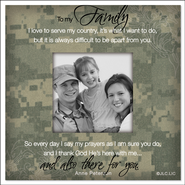 There For You, To My Family Soldier Magnet  -     By: Anne Peterson