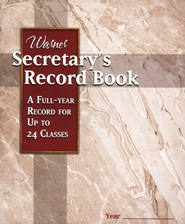 Secretary's Record Book (24 Classes)   -
