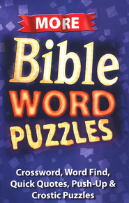 More Bible Word Puzzles Activity Book (8-10)  -