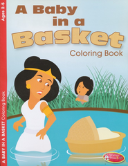 A Baby in a Basket Coloring Book - Ages 2-5  -