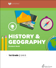 Lifepac History & Geography Grade 1 Unit 6: Places People Live   -