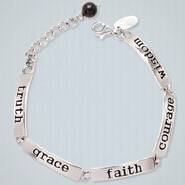 Truth, Grace, Faith, Courage, Wisdom Word Bracelet  -
