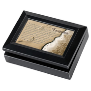 Music Box with Footprints Cover, with Digital Music Compartment  -