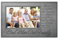 God Bless Our Family Photo Frame  -