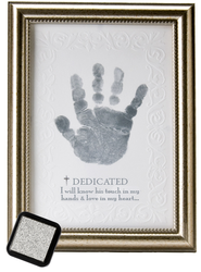 Dedicated Handprint Framed Print  -