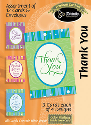 Sweet Words hank You Cards, Box of 12   -