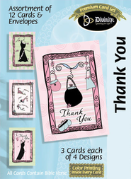 Ladies Thank You Cards, Box of 12  -