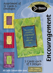 Strength of God Encouragement Cards, Box of 12  -