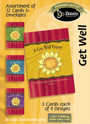 A Get Well Prayer Cards, Box of 12  -