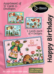 Beehive Birthday Cards, Box of 12  -