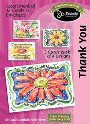Daisy Thank You Cards, Box of 12  -