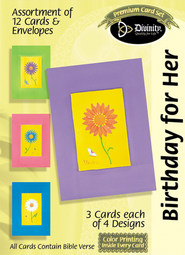 Daisies Birthday for Her Cards, Box of 12  -