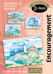 Lighthouses Encouragement Cards, Box of 12  -