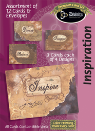 Torn Paper Inspiration Cards, Box of 12  -