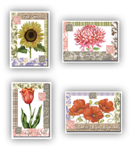 Floral and Fabric Get Well Cards, Box of 12  -