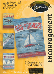 Sailboats and Plan Encouragement Cards, Box of 12   -